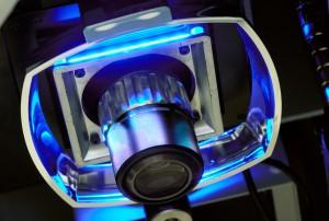 Untersicht eines Vierquadranten-Ringlichts an einem Bildverarbeitungsmessgerät